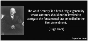 The word 'security' is a broad, vague generality whose contours should ...