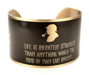 Sherlock Holmes Quote Cuff Bracelet, Literary Jewelry, Arthur Conan ...