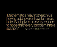 Hate Math Quotes In collection: love quotes