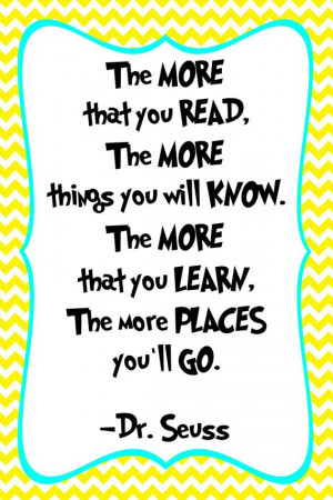 Dr. Seuss Quote Print Classroom poster or nursery by SSDdesign