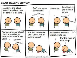 Related Items comic funny grammar rewrite