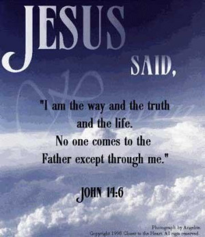Jesus said....