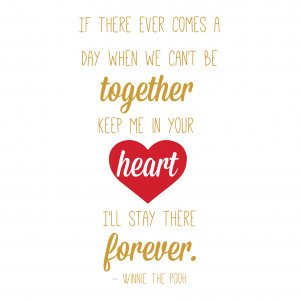With You Forever in Your Heart Winnie the Pooh Quote - Vinyl Wall Art ...