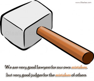 Mistakes Quotes-Thoughts-Good Lawyers - Good Judges - Best Quotes