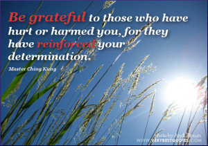 Be grateful to those who have hurt or harmed you, for they have ...