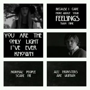 American Horror Story Black And White Quotes