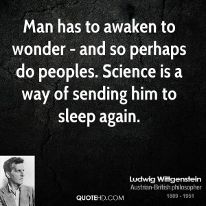 Ludwig Wittgenstein Science Quotes