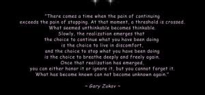 Gary Zukav Intention | Share