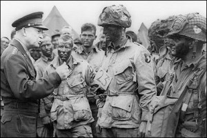 ... photo: General Dwight Eisenhower and the 101st Airborne before D-Day