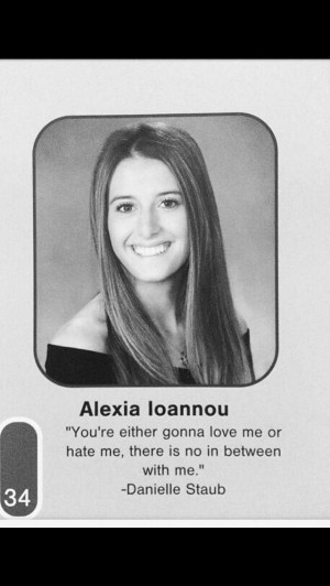 ... Daughter Lexi Manzo, Quotes Danielle Staub For Her Senior Yearbook