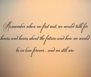 Home > Remember When We First Met Wall Decals