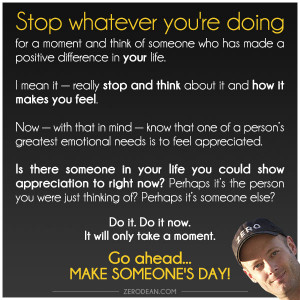 Go ahead, make someone's day…