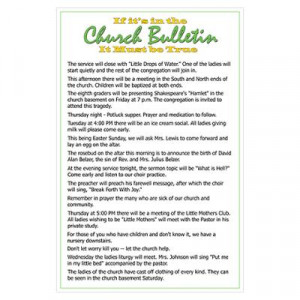 church bulletin errors poster funny church bulletins funny church ...