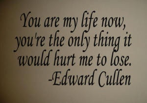 Twilight Edward Cullen Quote Wall Decal