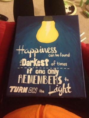 Harry Potter quote canvas painting