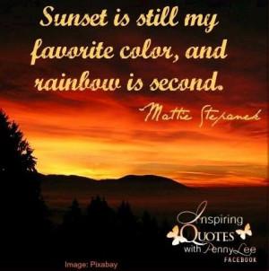 Sunset Quote Via Inspiring...