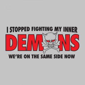 fighting my inner demons we re on the same side now funny t shirt