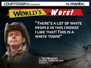 ted nugent douche bag racist tea bagger since we ve been discussing ...