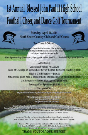 High School Football Golf Tournament Flyers
