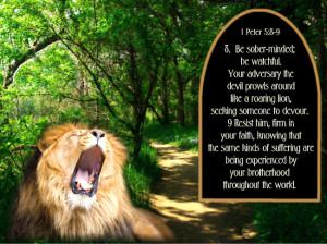 lion.jpg 1Pet. 5:8,9 roaring lion