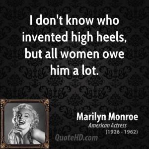marilyn monroe women quote