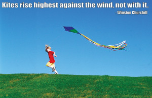 against the wind…
