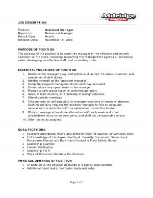 resume restaurant manager job description source http quoteko com ...