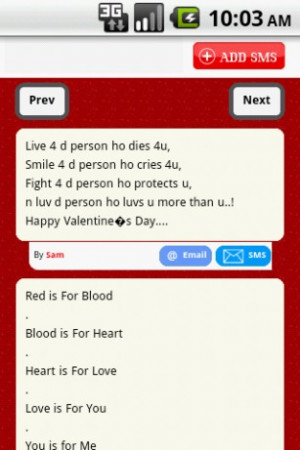Valentine's day will be on Monday 14 Feb. Valentine's Day quotes app