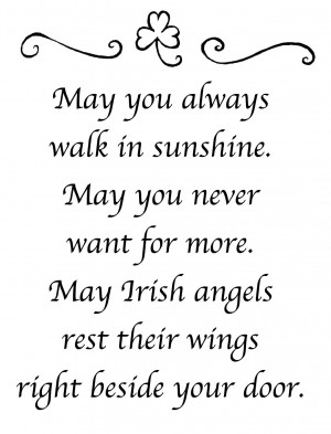 Beautiful Irish Blessing Prayer Poem But It Didnt Say Who Wrote So ...