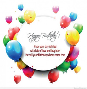 Awesome wish Happy Birthday quote