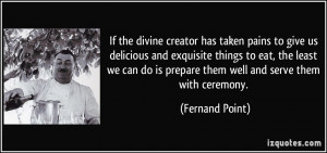 Fernand Point Quote