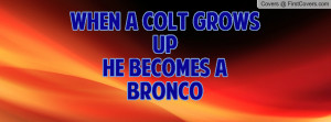 When A Colt Grows UpHe Becomes a Bronco Profile Facebook Covers