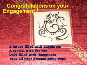 ... both of you with warmth and care. Congratulations on your engagement