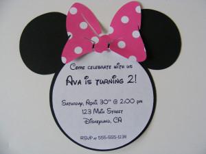 minnie mouse invitation help
