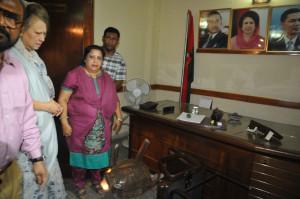 Khaleda Zia at BNP Nayapaltan office