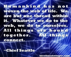 Chief Seattle inspirational quote.