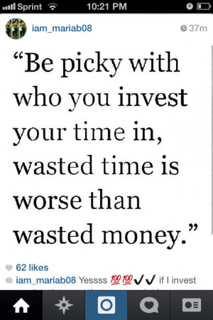 Quote about time investment