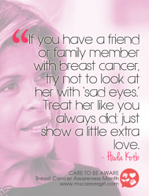 ... be Aware: 8 Celebrity Quotes Promoting Breast Cancer Awareness Month