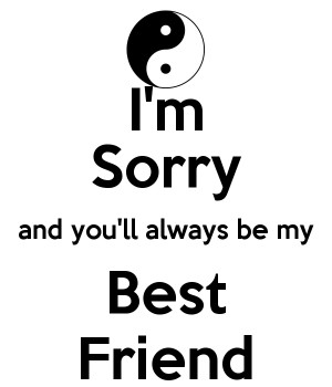 sorry best friend sorry sorry best friend