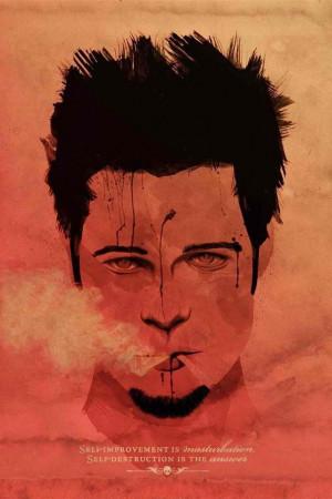 Brad Pitt X Fight Club (Self-Improvement is Maturbation, Self ...