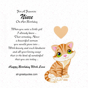 Free Birthday Cards For Niece – For A Favorite Niece On Her Birthday