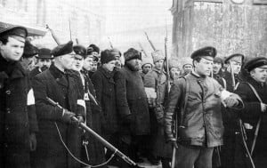 February Revolution Begins in March in Petrograd, Russia Featured