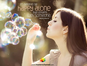 how to be happy alone quotes