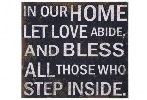 Subway Sign   Let Love Abide   Family Wall Quotes