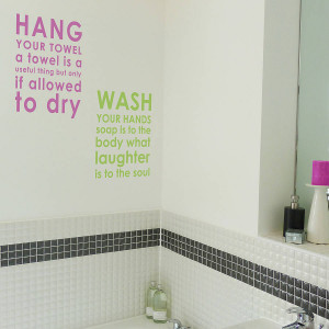 homepage > NUTMEG > BATHROOM RULES WALL STICKER