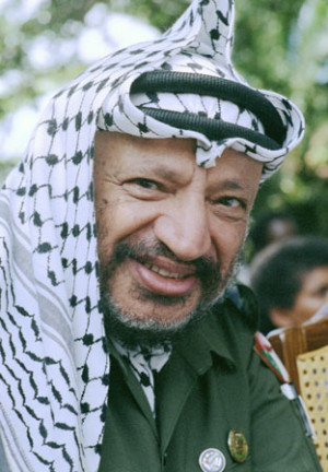 Yasser Arafat (1929-2004), leader of the PLO