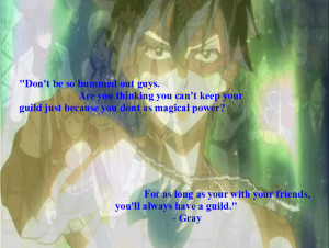 Fairy Tail Quotes Gray Emotional quote gray by kmo27
