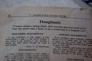 In true Nana form, this book was opened to the doughnuts page and held ...