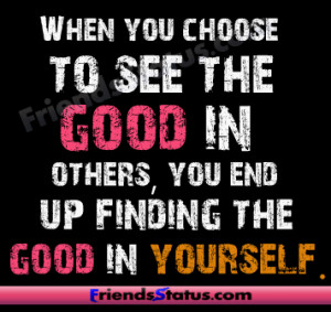 Finding the good in yourself