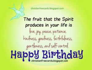 Card Happy Birthday with Love, Peace, Joy for man, woman, teen ...